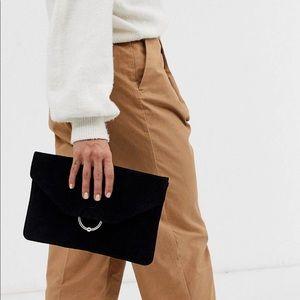 ASOS Suede Clutch Bag NWT!